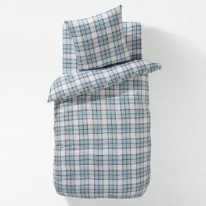BLUE CHECK Cotton Flannel Duvet Cover La Redoute Interieurs