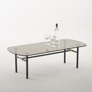 Mesa de centro, tampo em vidro temperado fumado, Botello La Redoute Interieurs