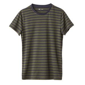 Gestreept T-shirt met ronde hals 100% katoen La Redoute Collections