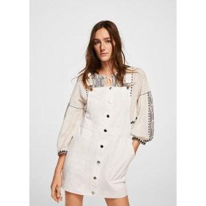 Robe chasuble courte coton MANGO