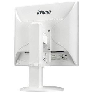 Ecran iiyama 19  LED - ProLite B1980SD-W1 - 1280 x 1024 pixels - 5 ms - Format 4/3 - Pivot - DVI/VGA - Blanc IIYAMA