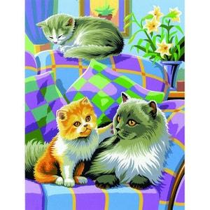 Peinture par n° débutant duo - Lot de 2 Chats - OZIPBNJ41023 OZ INTERNATIONAL