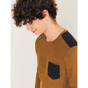 T-shirt matière fantaisie et patch épaules BIZZBEE