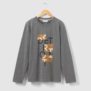 Camiseta estampada manga larga 10-16 años La Redoute Collections