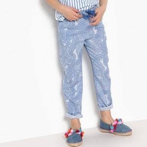 "Pantaloni fluidi fantasia ""tropicale"" 3 - 12 anni La Redoute Collections"