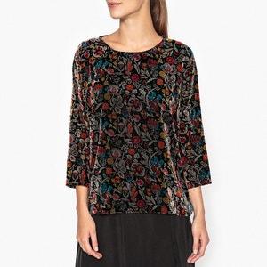 Bedrukte blouse in fluweel INOUI TOUPY