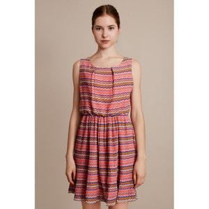 Wzorzysta sukienka bez rękawów MIGLE+ME