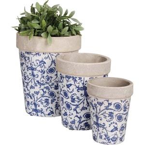 Pots de fleurs en céramique (Lot de 3) ESSCHERT DESIGN