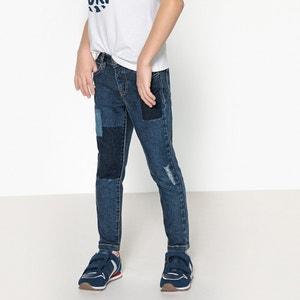 Slim jeans met verwassen effect 3-12 jr La Redoute Collections