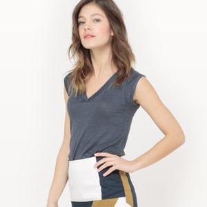 Linen V-Neck T-Shirt atelier R