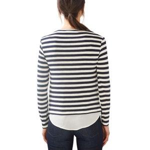 Stripe Print Crew Neck T-Shirt ESPRIT