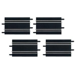 Circuit de voitures Carrera Go : Extension de 4 rails droits 17 cm CARRERA