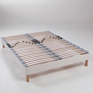 Beklede beddenbodem, met zichtbare latten, verstelbaar aan de lage rug REVERIE