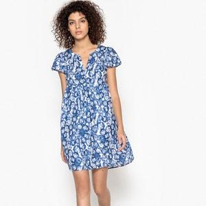 Korte jurk met korte mouwen, wijd uitlopend onder de buste SUNCOO