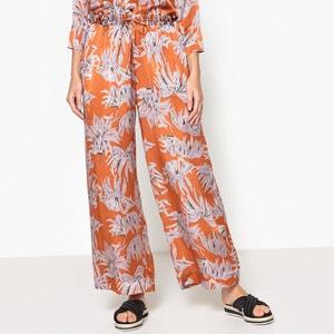 Pantalon large en soie imprimée POMANDERE
