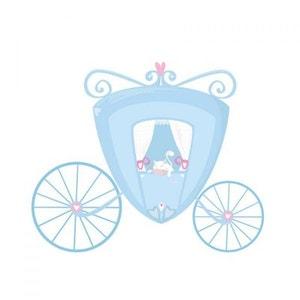 Sticker Chambre Fille : Carrosse bleu DECOLOOPIO