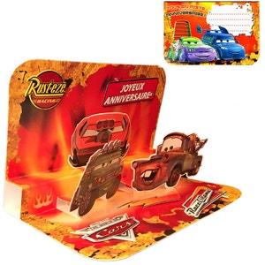 Carte Anniversaire 3D Disney - Cars TROPICO