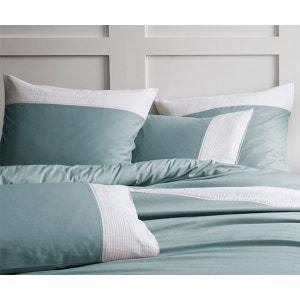 Taie d'oreiller carré orage plissé blanc - 100% coton MATT ET ROSE orage MATT ET ROSE