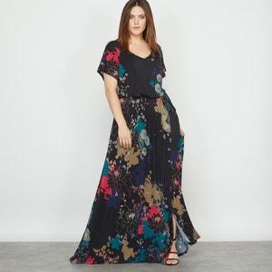 Vestido largo de punto estampado de flores CASTALUNA