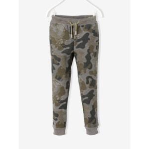 Pantalon garçon molleton imprimé camouflage VERTBAUDET