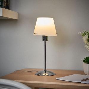 Lampe à poser LED Valentine, abat-jour en verre LAMPENWELT
