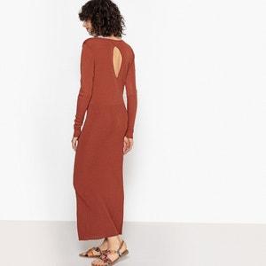 Prosta, gładka, długa sukienka z długim rękawem La Redoute Collections