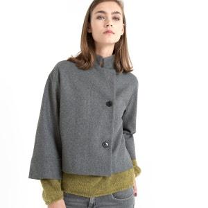 Abrigo corto, manga larga ¾, cuello recto, FIGUE GAT RIMON