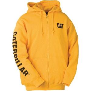 W10840 - Sweatshirt à capuche et fermeture zippée - Homme CATERPILLAR