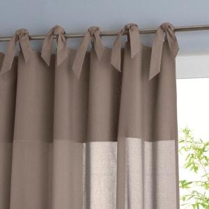 Osmain Cotton Voile Panel with Tie Top La Redoute Interieurs
