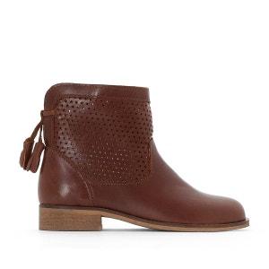 Boots en cuir à boucle La Redoute Collections