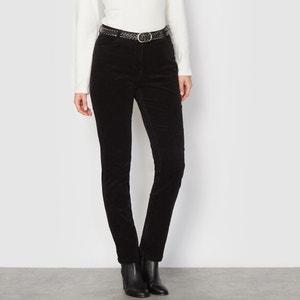 Welurowe spodnie ze streczu ANNE WEYBURN
