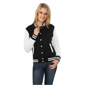 Veste Teddy URBAN CLASSICS Ladies Noir / Blanc College URBAN CLASSICS