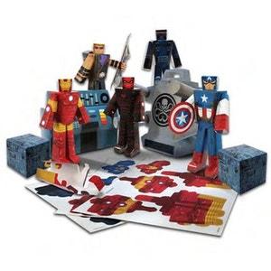 Avengers (Marvel) - Set Papercraft Hydra Battle Heroes Pack JAZWARES