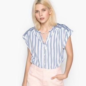 Ärmellose Bluse mit rundem Ausschnitt PEPE JEANS