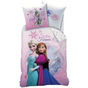 Juego de cama infantil con funda nórdica + funda de almohada, Pink Mountain LA REINE DES NEIGES