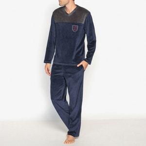 Pijama em veludo, mangas compridas ATHENA