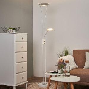 Lampadaire à éclairage indirect LED blanc Eda LAMPENWELT