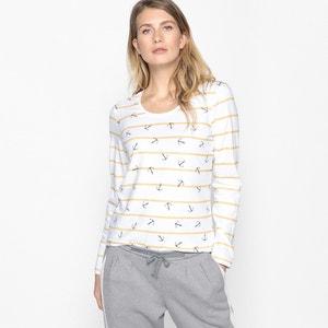 T-shirt imprimé, pur coton peigné ANNE WEYBURN