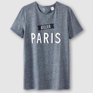 T-shirt com gola redonda estampada R édition