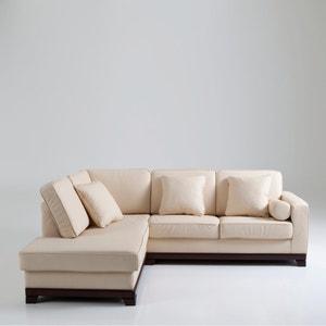 Hoekcanapé, omvormbaar, superieur comfort, echt leer, Edwin La Redoute Interieurs