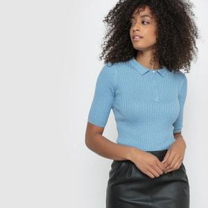 Jersey polo de algodón/seda atelier R