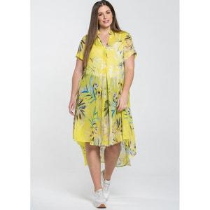 Floral Print Shirt Dress MAT FASHION