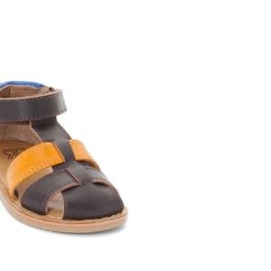 Sandalias de piel con cierre autoadherente, del 19 al 25 La Redoute Collections
