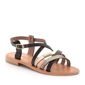 Sandálias bicolores em pele LES TROPEZIENNES PAR M.BELARBI