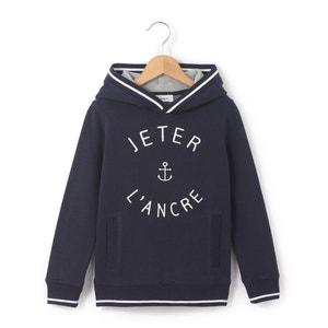 Sweater met kap en Jeter l'ancre opschrift La Redoute Collections
