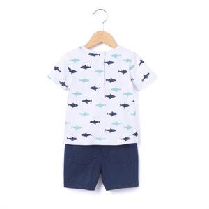 Conjunto de camiseta + short 1 mes - 3 años La Redoute Collections