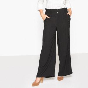 Pantalon large loose femme la redoute - Pantalon femme taille haute coupe droite ...
