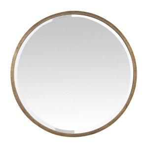 Miroir rond métal doré EMDE PREMIUM
