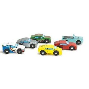 Voitures en bois Set de 6 voitures de sport Montecarlo TV440 LE TOY VAN