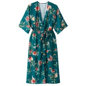 Floral Print Kimono Style Dress MADEMOISELLE R